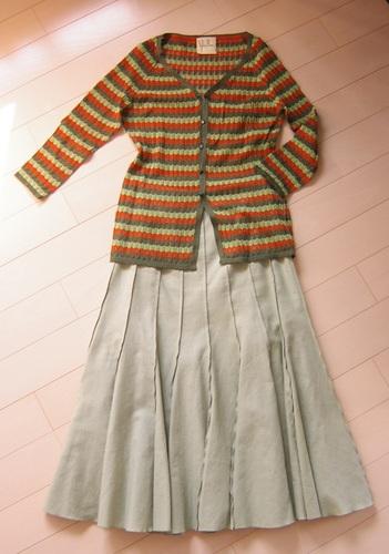 02年頃カーディガン+スカート